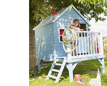 Verdeesvida una caba a para jugar en el jard n for Cabanas infantiles en madera